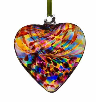 Friendship Heart 8cm multi colour