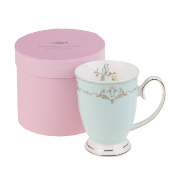 Miss Darcy Bird Mug Mint and Gold