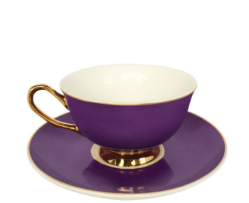 Perfect Purple teacup and saucer - VIX900V