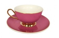 Pretty in Pink teacup and saucer - VIX900P