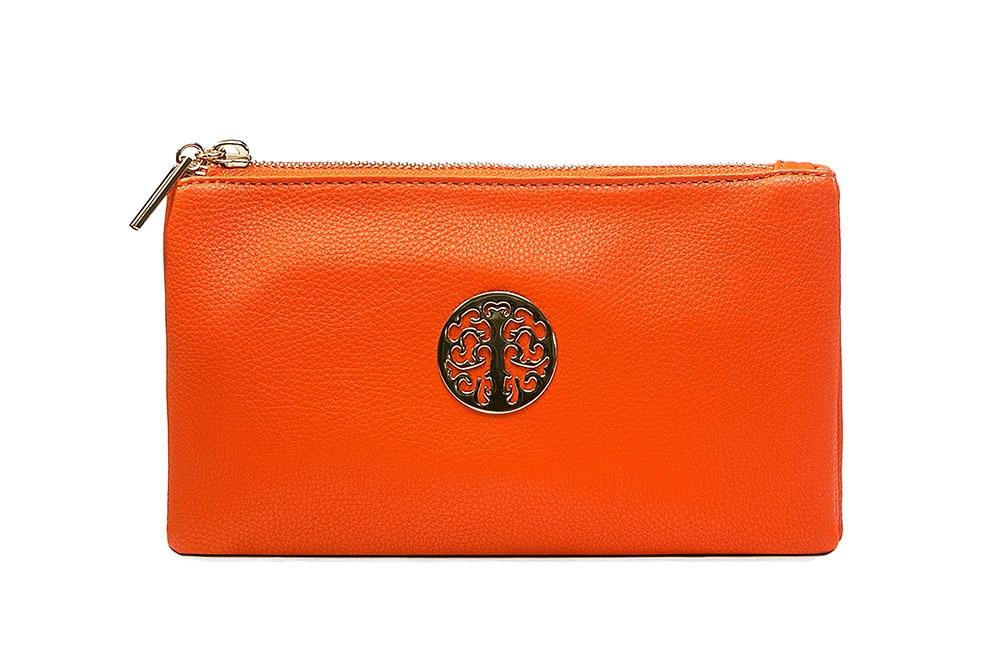 Tree of life clutch bag - orange