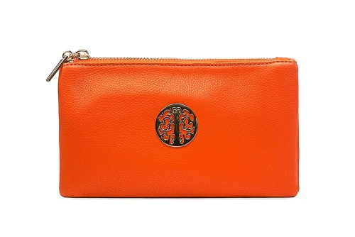 Tree of life clutch bag - orange