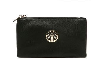 Tree of life clutch bag - black
