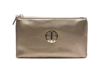 Tree of life clutch bag - silvery grey