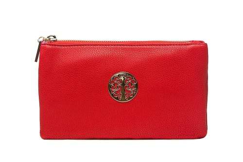 Tree of life clutch bag - red