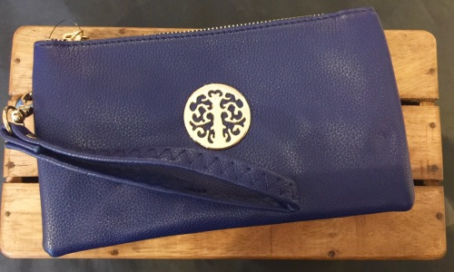 Tree of life clutch bag - navy