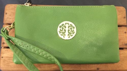 Tree of life clutch bag - green