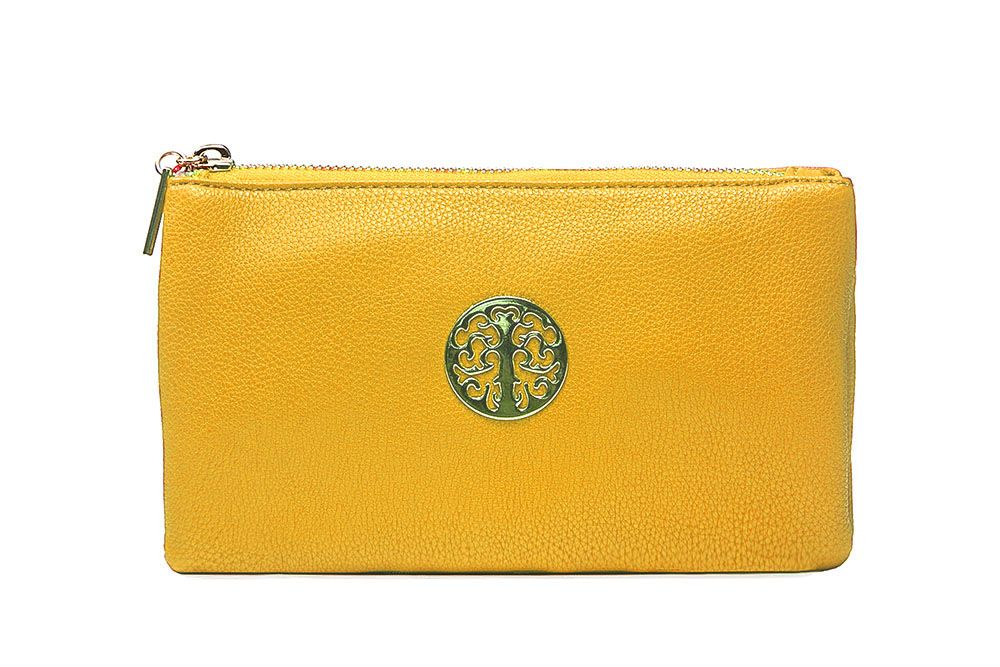 Tree of life clutch bag - yellow