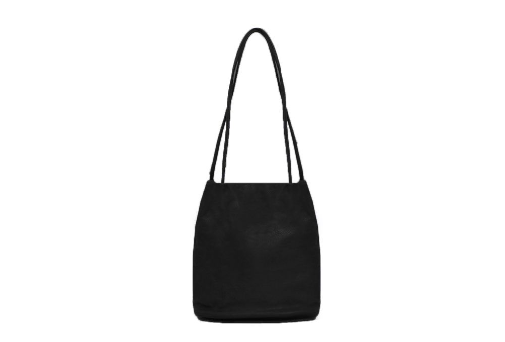 Shoulder bag with two straps - black