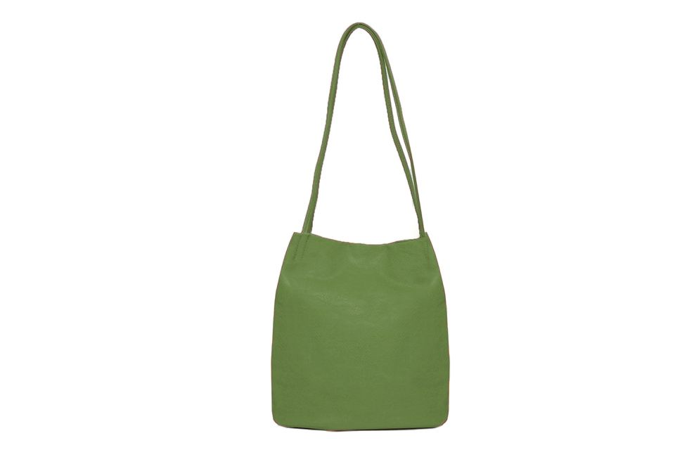Shoulder bag with two straps - green
