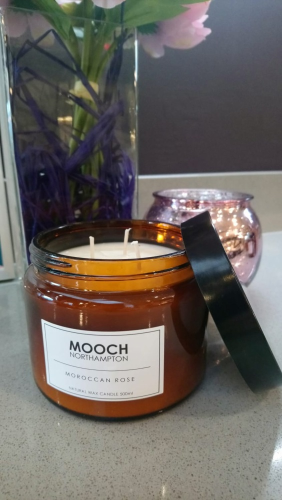MOOCH 3-WICK CANDLE - MOROCCAN ROSE