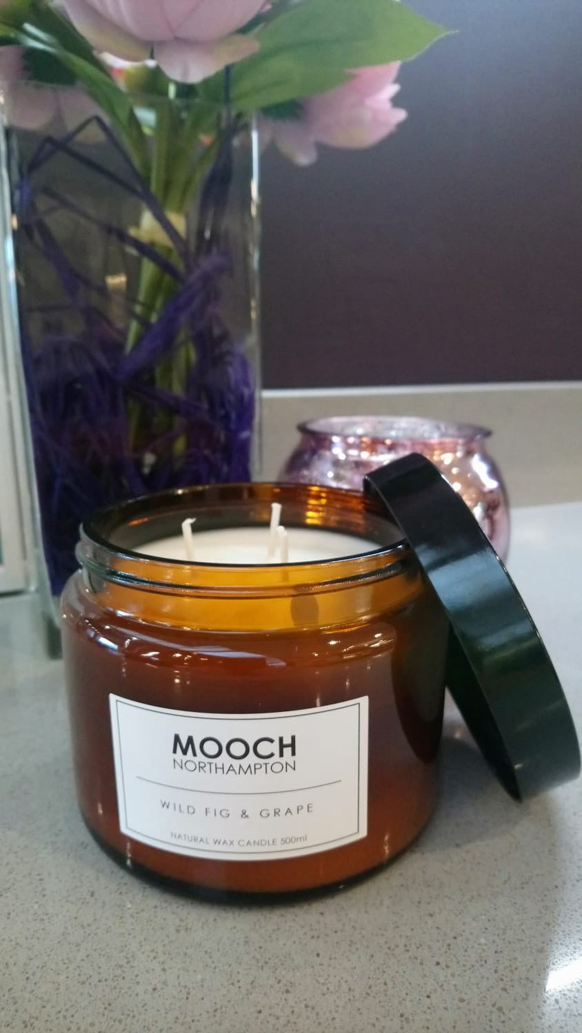 MOOCH 3-WICK CANDLE - WILD FIG & GRAPE