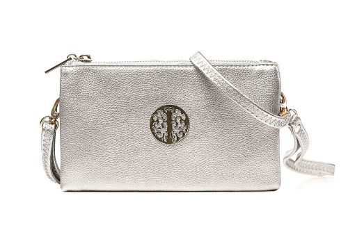 Tree of life clutch bag - silver