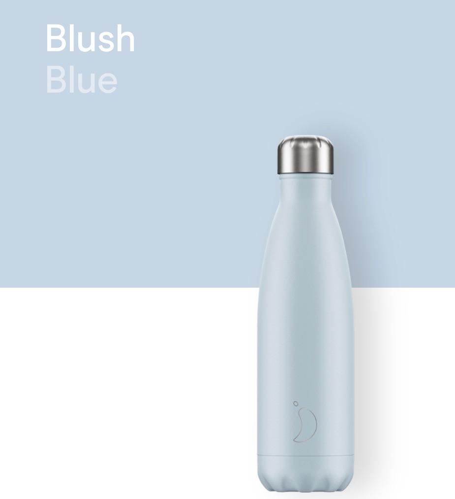CHILLY'S BOTTLE 500ML - BLUSH BLUE