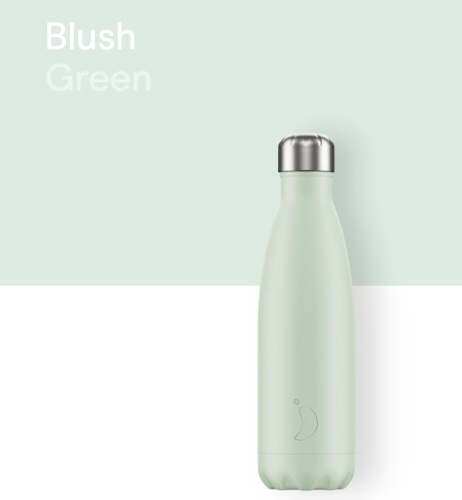 CHILLY'S BOTTLE 500ML - BLUSH GREEN
