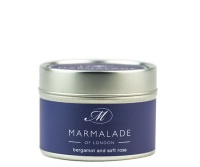 SMALL TIN CANDLE BERGAMOT & SOFT ROSE