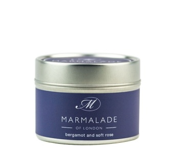 BERGAMOT & SOFT ROSE SMALL TIN CANDLE