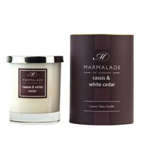 CASSIS & WHITE CEDAR LARGE GLASS CANDLE