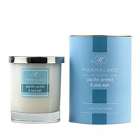 PACIFIC ORCHID & SEASALT LARGE GLASS CANDLE