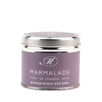 MEDIUM TIN CANDLE POMEGRANATE & PEAR