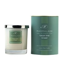 TUSCAN LIME & BASIL LARGE GLASS CANDLE