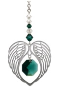 ANGEL WING HEART - EMERALD