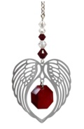 ANGEL WING HEART - GARNET