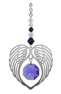 ANGEL WING HEART - AMETHYST