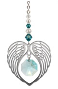 ANGEL WING HEART - BLUE ZIRCON