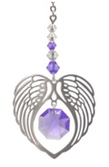 ANGEL WING HEART - LIGHT AMETHYST