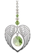 ANGEL WING HEART - PERIDOT
