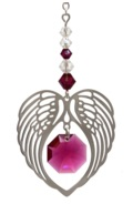 ANGEL WING HEART - RUBY