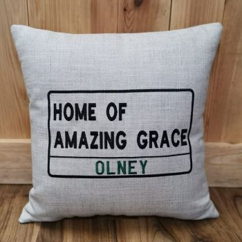 Olney Home of Amazing Grace - Cushion (various fabrics available)