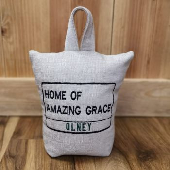 Olney Home of Amazing Grace - Doorstop (various fabrics available)