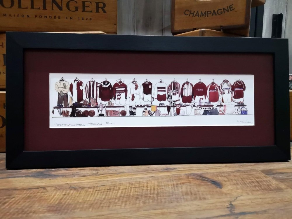 COBBLERS SHIRT  PRINT in 20x8 BLACK FRAME WITH GLASS LENS