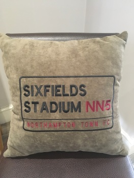Cobblers (Northampton Town FC) Cushion (various fabrics available)