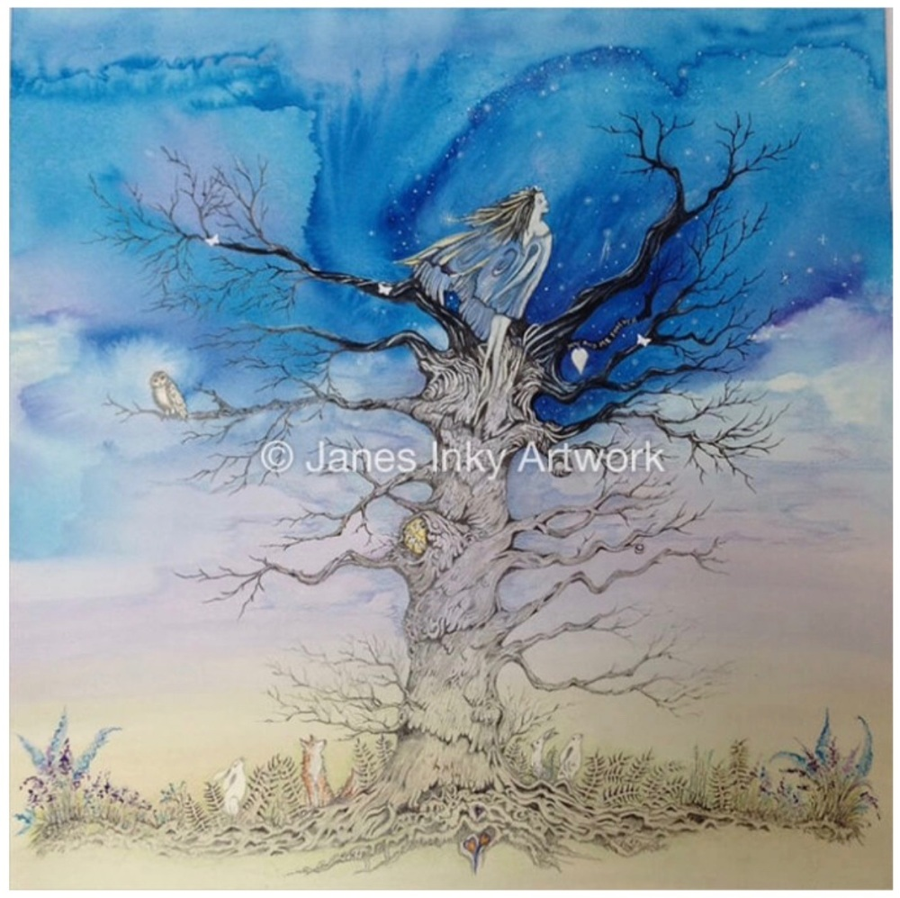 PERHAPS IF I SEARCH FOR THE SKY - LIMETED EDITION 13/50 MOUNTED GICLEE PRIN