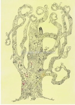 LOOKING TREE A4 - MOUNTED GICLEE PRINT