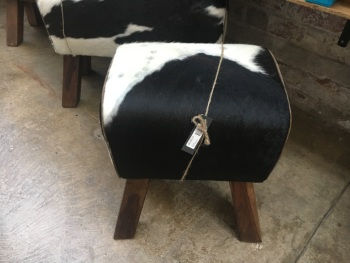 Small cowhide bench