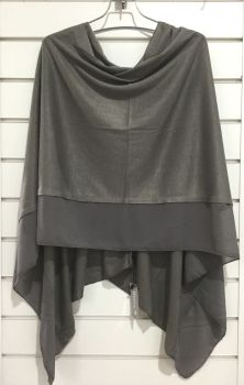 LIGHTWEIGHT PONCHO DARK GREY