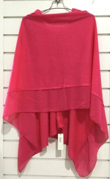 LIGHTWEIGHT PONCHO HOT PINK