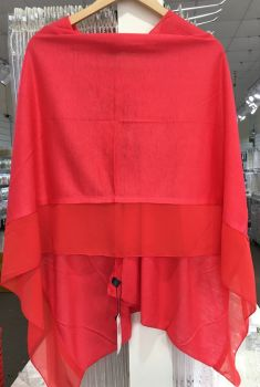 HOT RED - LIGHTWEIGHT PONCHO