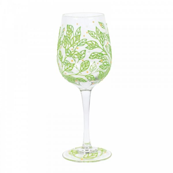 SPRING LEAVES WINE GLASS