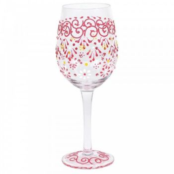 MELON HENNA WINE GLASS (BOXED)