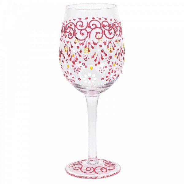 MELON HENNA WINE GLASS