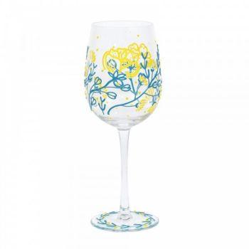 STRAWFLOWERS WINE GLASS (BOXED)