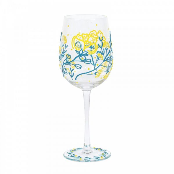 STRAWFLOWERS WINE GLASS