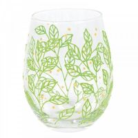 SPRING LEAVES GLASS (BOXED)