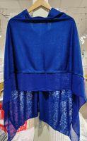 LIGHTWEIGHT PONCHO COLBALT BLUE