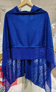 COLBALT BLUE - LIGHTWEIGHT PONCHO